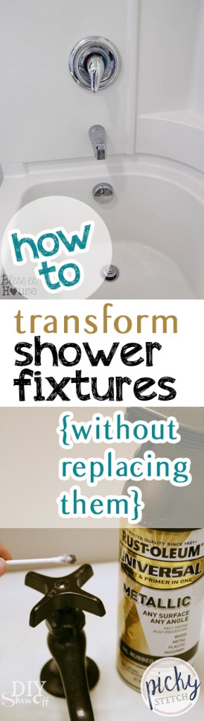 How to easily upgrade shower fixtures without completely replacing them.| Shower Fixtures, DIY Shower Features, Bathroom Decor, DIY Shower, Bathroom Remodeling, Remodeling Tips and Tricks, Popular Pin #BathroomRemodeling #Bathroom
