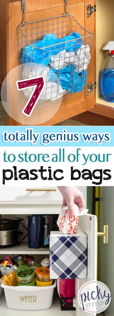 Looking for more storage and organization? Try these plastic bag storage methods!  Storage, Storage Ideas, Storage Ideas for Small Spaces, STorage Hacks, Storage Hacks DIY, Storage Hacks for Small Spaces #StorageIdeas #StorageHacksDIY #StorageHacksforSmallSpaces #StorageHacks