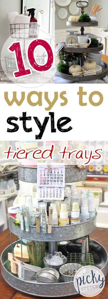 10 Ways to Style Tiered Trays| Tiered Tray Decor, Tiered Tray Decor Kitchens, Tiered Tray DIY, DIY Projects, DIY Crafts, Home Decor, Home Decor Ideas, DIY Home Decor