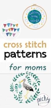 Cross Stitch patterns for Moms, cross stitch patterns, crafts for mom, cross stitch