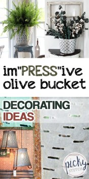 Olive Bucket | Olive Bucket Decor Ideas | Olive Bucket Decorations | DIY Olive Bucket Decor | DIY Olive Bucket Decor Ideas