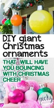 Christmas Ornaments | DIY Giant Christmas Ornaments | Christmas Ornaments for Holiday Decor | DIY Holiday Decor | DIY Holiday Decorations