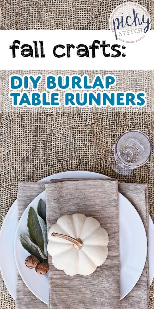 diy burlap table runners | diy | burlap | table runners | burlap table runners | crafts | fall