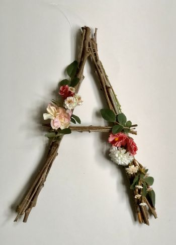 Twig letters are quickly becoming one of my favorite things! Look how cute they are! Learn how you can DIY your own twig letters for your home.