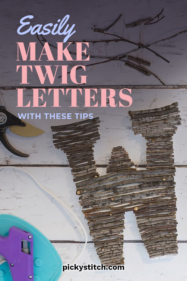 Everybody who sees Twig Letters loves them. They are absolutely darling. But did you know they are also easy to make? That's right! Today we will discuss how to make these cute letters and the items you will need. The instructions are easy to follow and you will be thrilled with your new DIY home decor. What you waiting for? Keep reading for more info. #twigletters #diyhomedecor