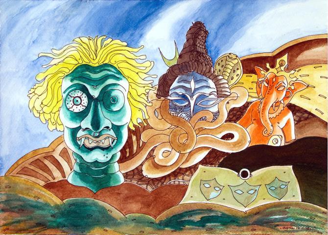 Demon-Lord-Shiva-lord-Ganesha-piczload