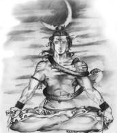 Sketch-Of-Shiva-Bhole-Nath