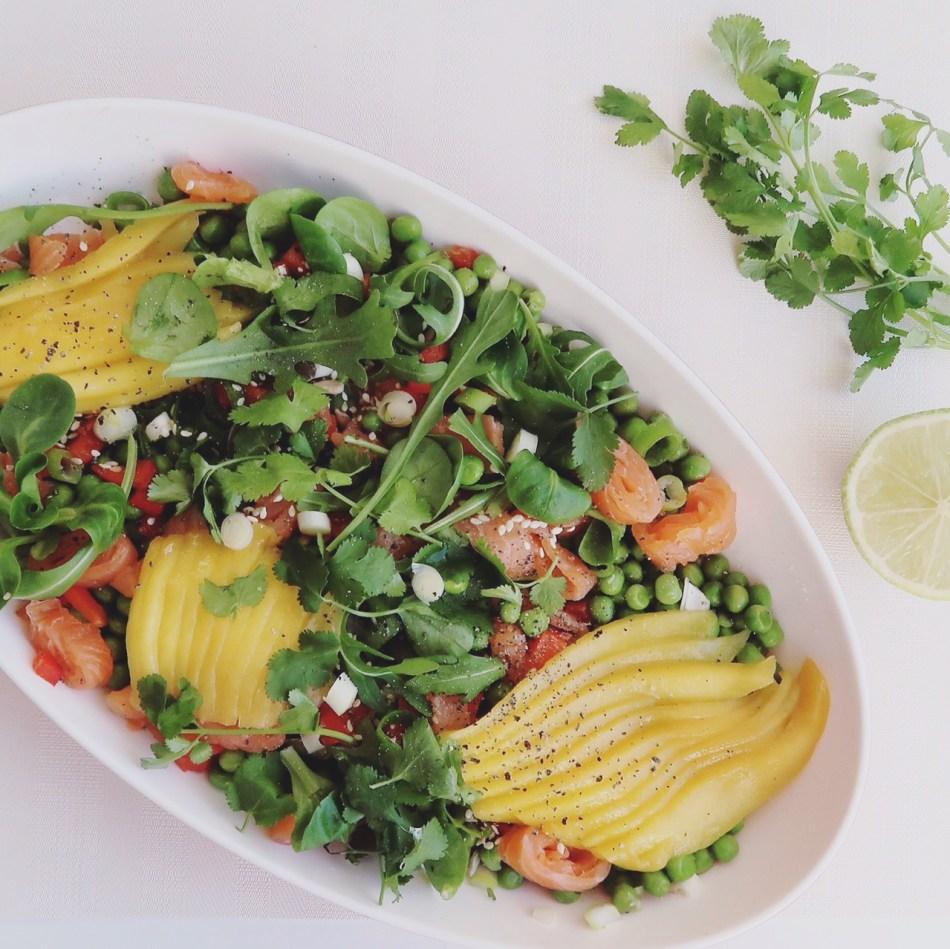 Zalm & mango salade