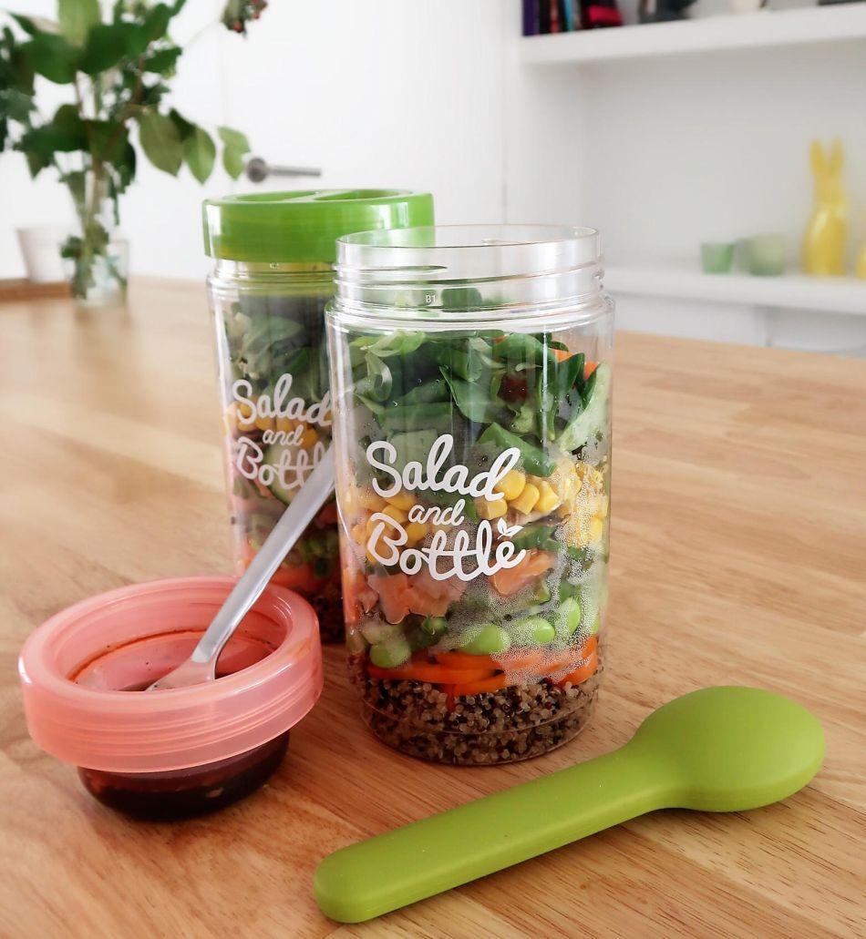 Salad in a jar zalm