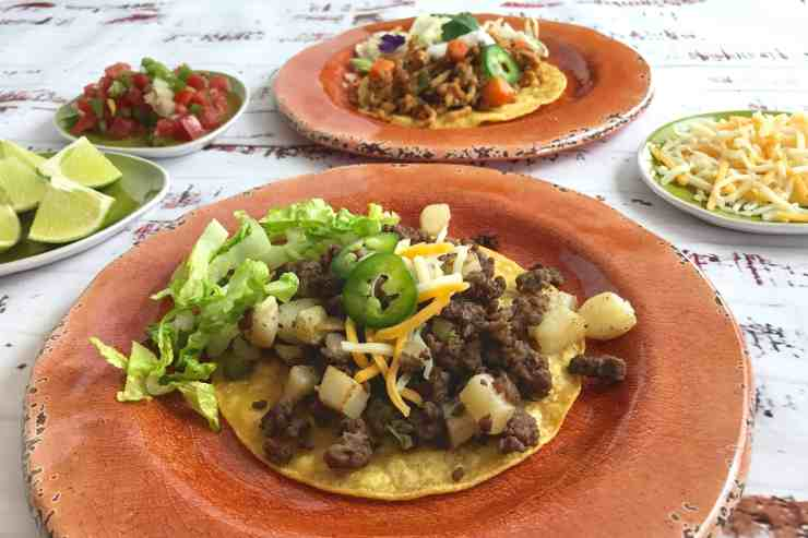 Beef and Potato Tostada