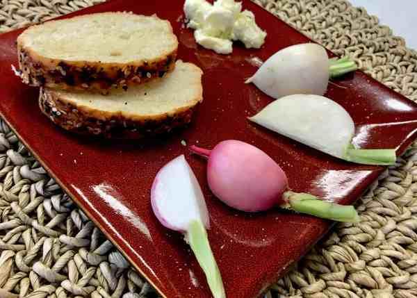 Radish Turnip Bread Appetizer Plate