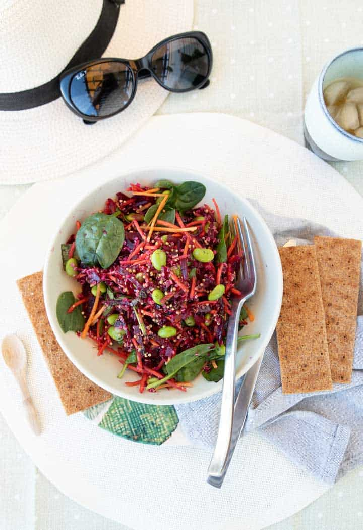 Quinoa Beet Salad with Dill & Mustard Seed Dressing