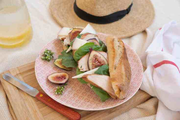 Fig and Chicken Baguette Sandwich Recipe