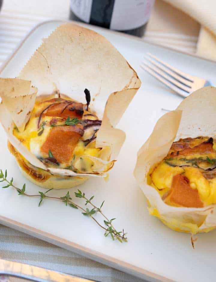 Roast Pumpkin and Feta Mini Frittata Recipe
