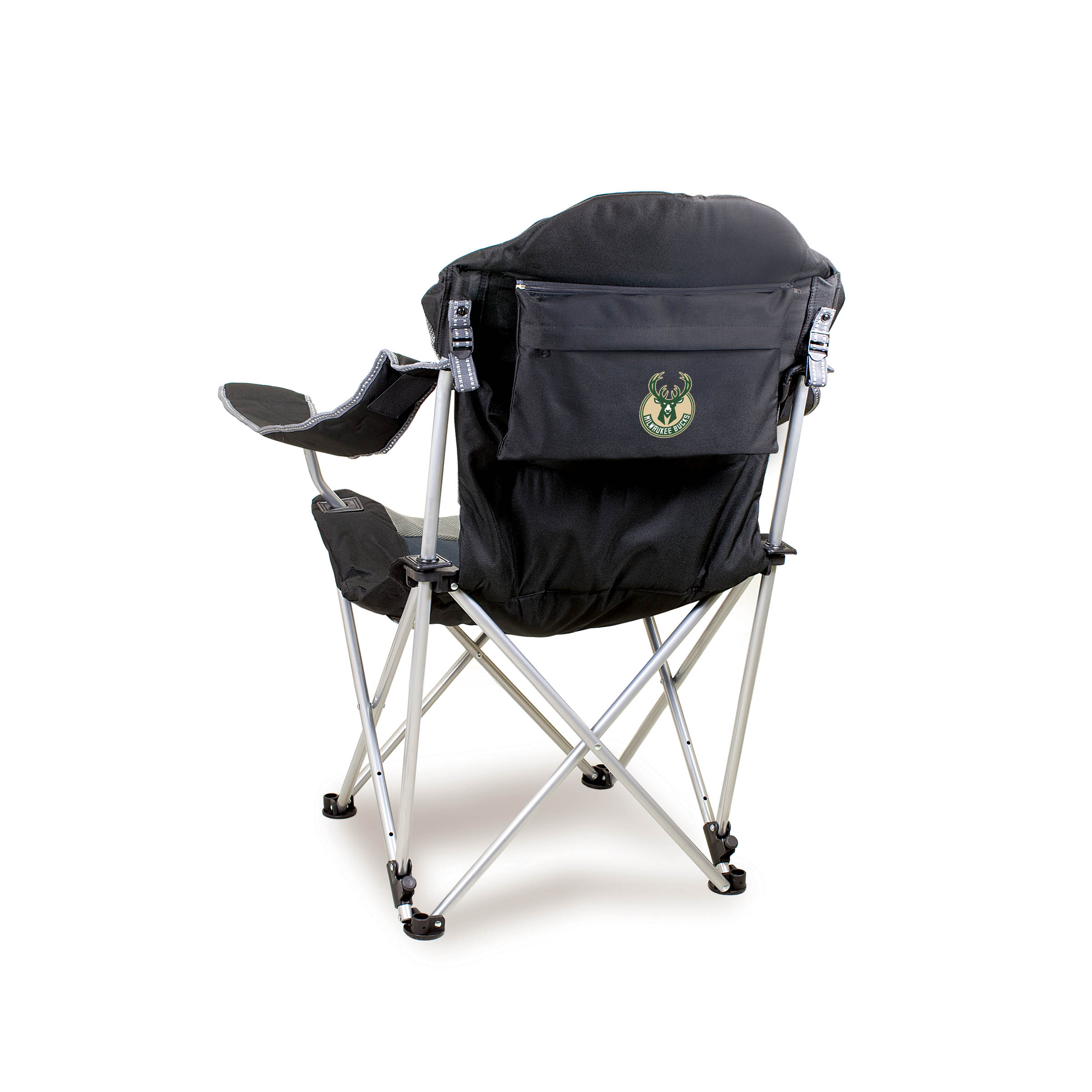 Reclining Camp Chair Reclining Camp Chair Black Milwaukee Bucks Digital Print