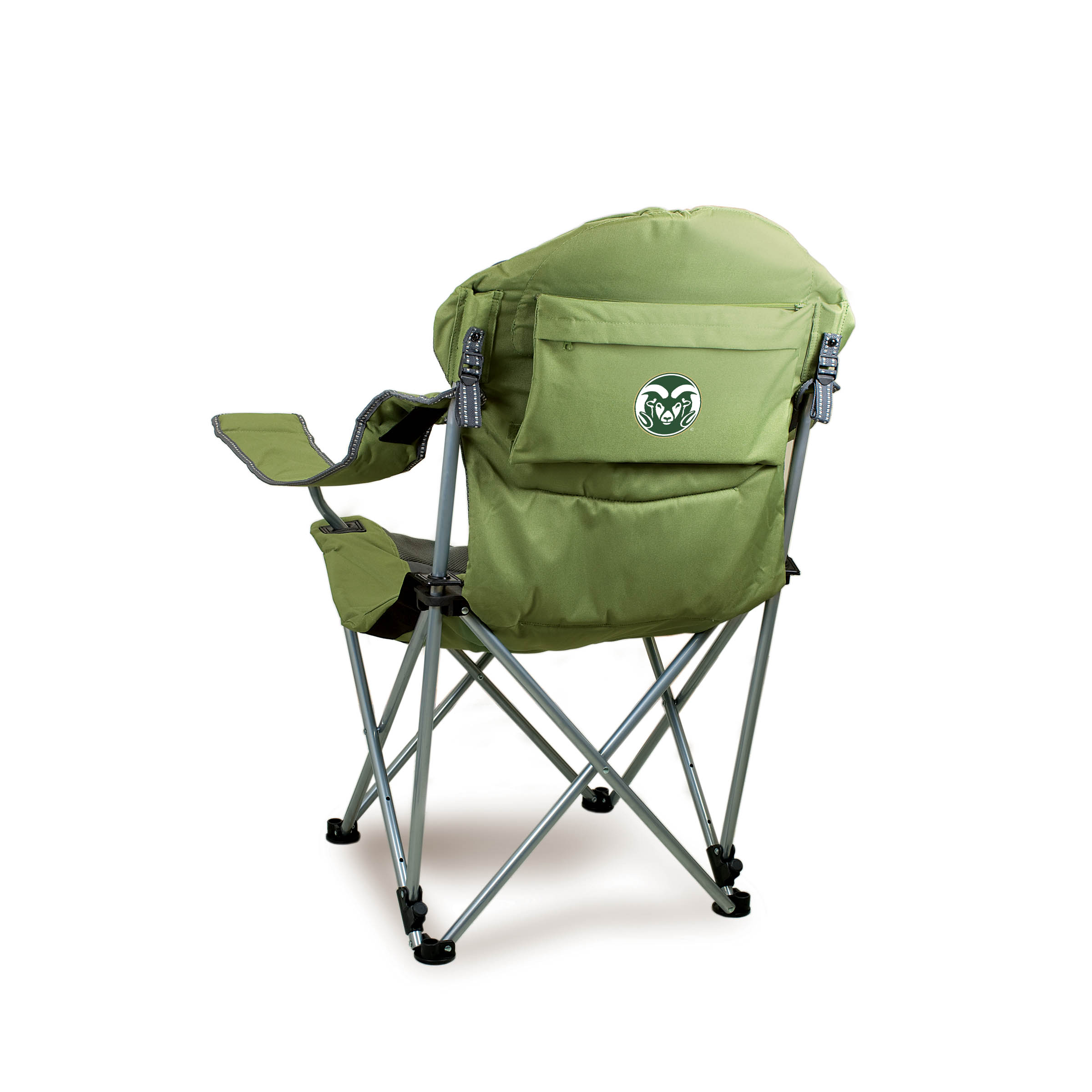Reclining Camp Chair Reclining Camp Chair Sage Green Colorado State