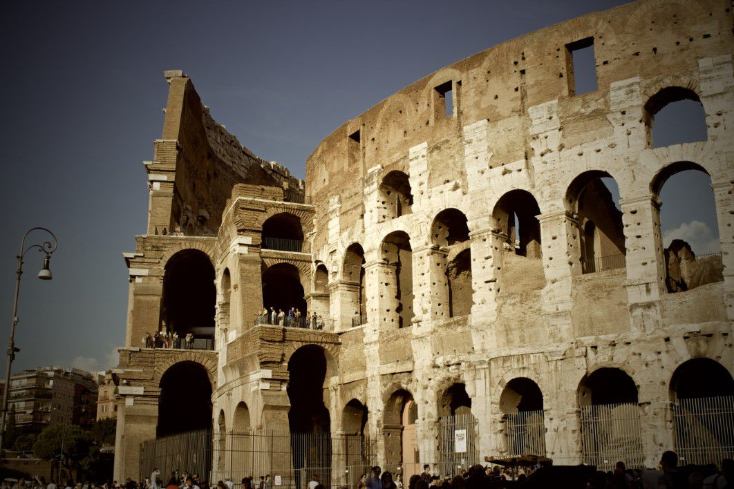 Side View Colosseum Rome Picography Free Photo