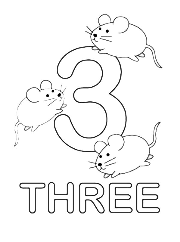 Number Three : Learning to Write Simple Handwriting Number