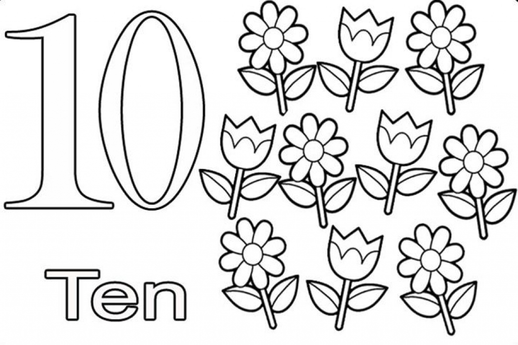 Number Ten : Learning to Write Simple Handwriting Number