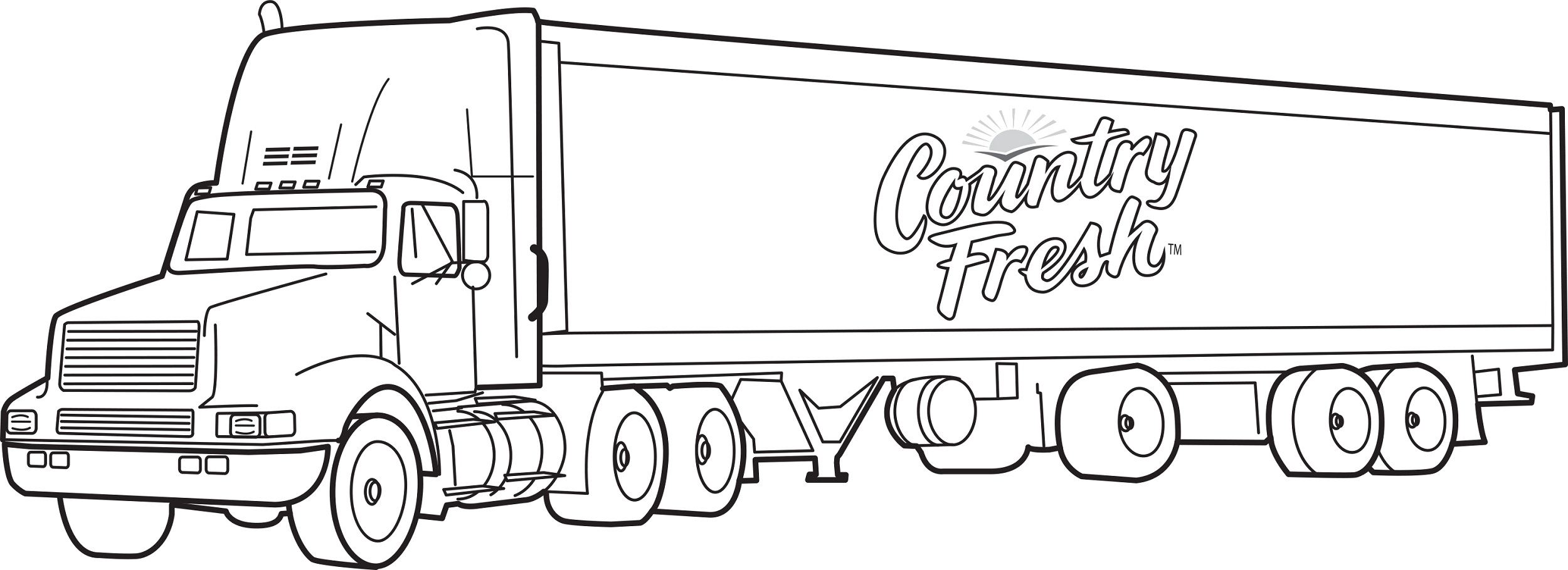Country Fresh Transport Truck Coloring Pages Picolour