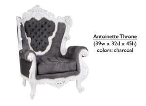 Charcoal Antoinette Throne