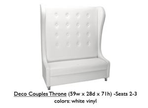 Vinyl Deco Couples Throne