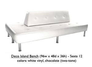 White Binyl Deco Island Bench
