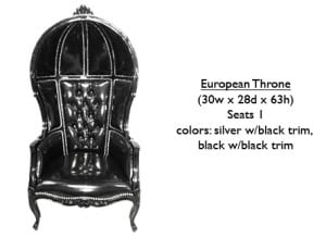 European Throne Trim