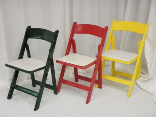 Green/Red/Yellow Wood Folding