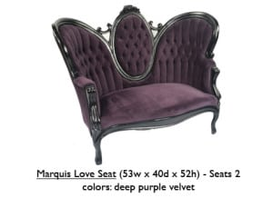 Velvet Marquis Love Seat