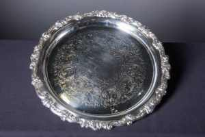 round-silver-serving-tray-catering-rentals-in-los-angeles