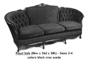 Suede Royal Sofa