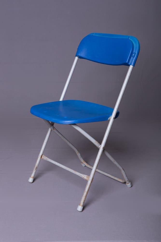 Blue Samsonite Plastic Folding Chair