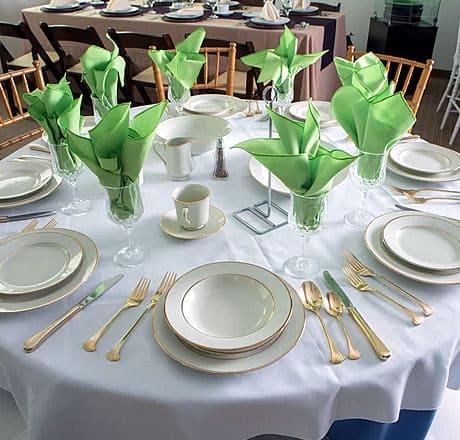 The Dinnerware Rental Experts