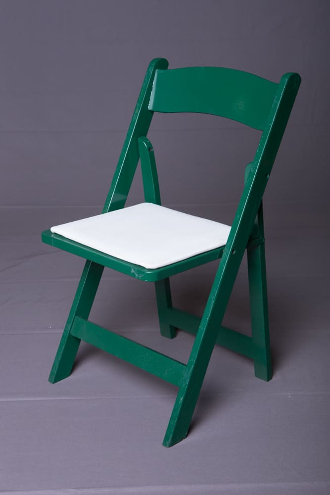 folding chair green cream leather chairs our inventory of dining tables rentals in los angeles wood