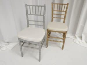 Silver And Gold Chiavari Chair Rentals In Los
