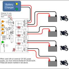 24 Volt Battery System Diagram Wiring Symbol Contactor Charger Sharing Controller