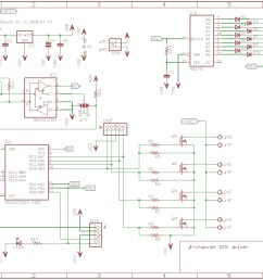 schematic 4 channel dmx driver board 805 [ 1091 x 751 Pixel ]
