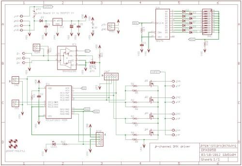 small resolution of schematic 4 channel dmx driver board 805