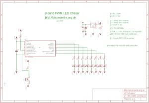 UFO PWM LED chaser