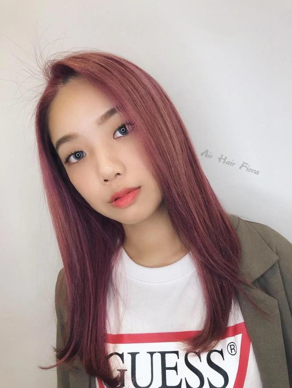 ▲▼東區染髮絕美紫色系的4款變化。