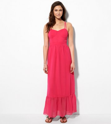 Ae Corset Maxi Dress American Eagle Outfitters Hunt