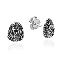 Native American Style Sterling Silver Post Stud Earrings ...
