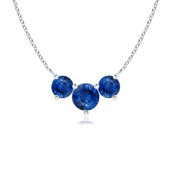 Classic Trio Sapphire Necklace
