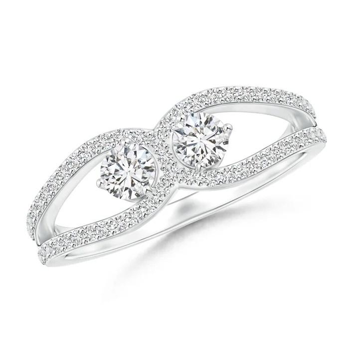 Diamond Horseshoe Duo Promise Ring