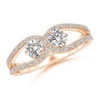 Diamond Horseshoe Duo Promise Ring | Angara