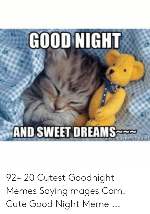 Good Night Meme Cute : night, Funny, Night, Images