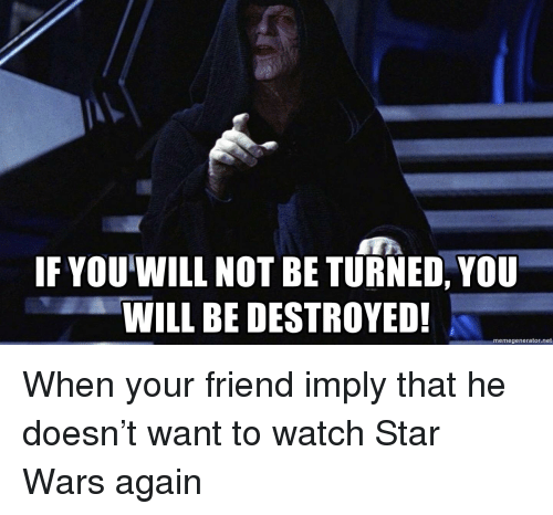 if you will not