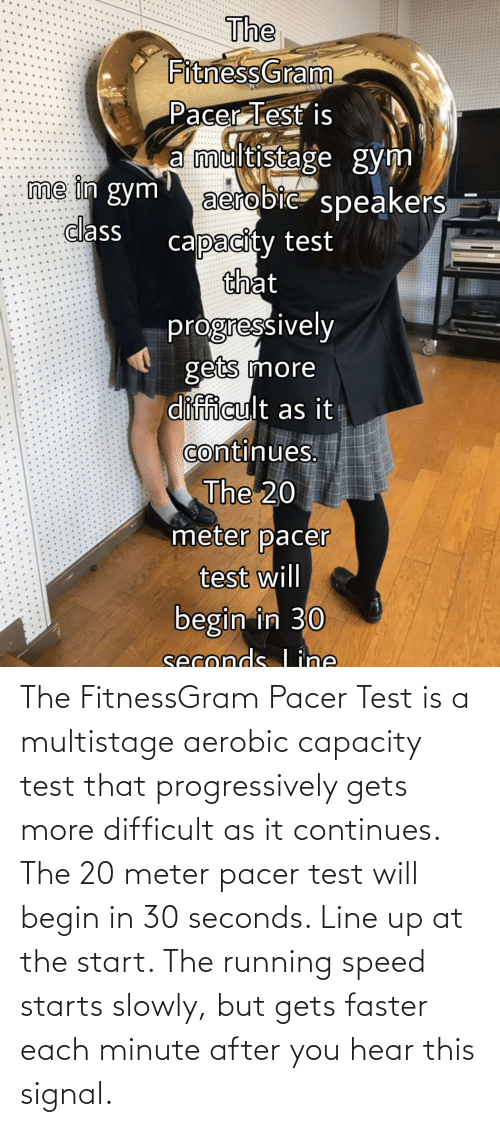 The Fitness Pacer Test Lyrics : fitness, pacer, lyrics, 🅱️, Memes, About, Fitnessgram, Pacer, Multistage, Aerobic, Capacity