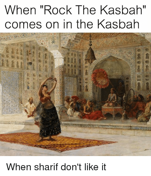 classical art rock and like when rock the kasbah comes on